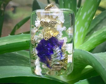 Baby's Breath with Butterfly and Purple flowers