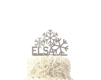 Cake toppers frozen theme, lasercut, acrylic, reusable, with name, baby shower