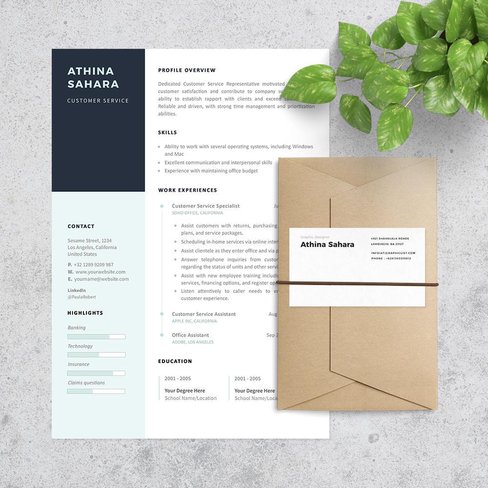 Plantilla de curriculum vitae servicio al cliente Carta