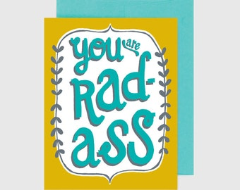 Congratulations Card - You Are Rad Ass
