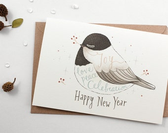 50% OFF - Holiday Card - Happy New Year - Greeting Card