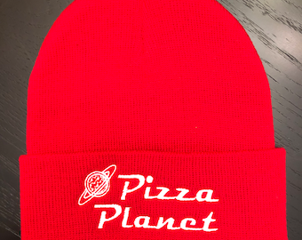 Pizza Planet Beanie | Toy Story Winter Hat | Buzz Lightyear | Toy Story Hat | Disney Hat | Disney Beanie