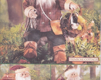 FREE US SHIP Butterick 5030 Sewing Pattern Craft Santa Doll Primrose cottage Forest Dolls Uncut Factory Folded 1997