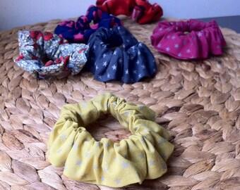 Cotton hair scrunchies