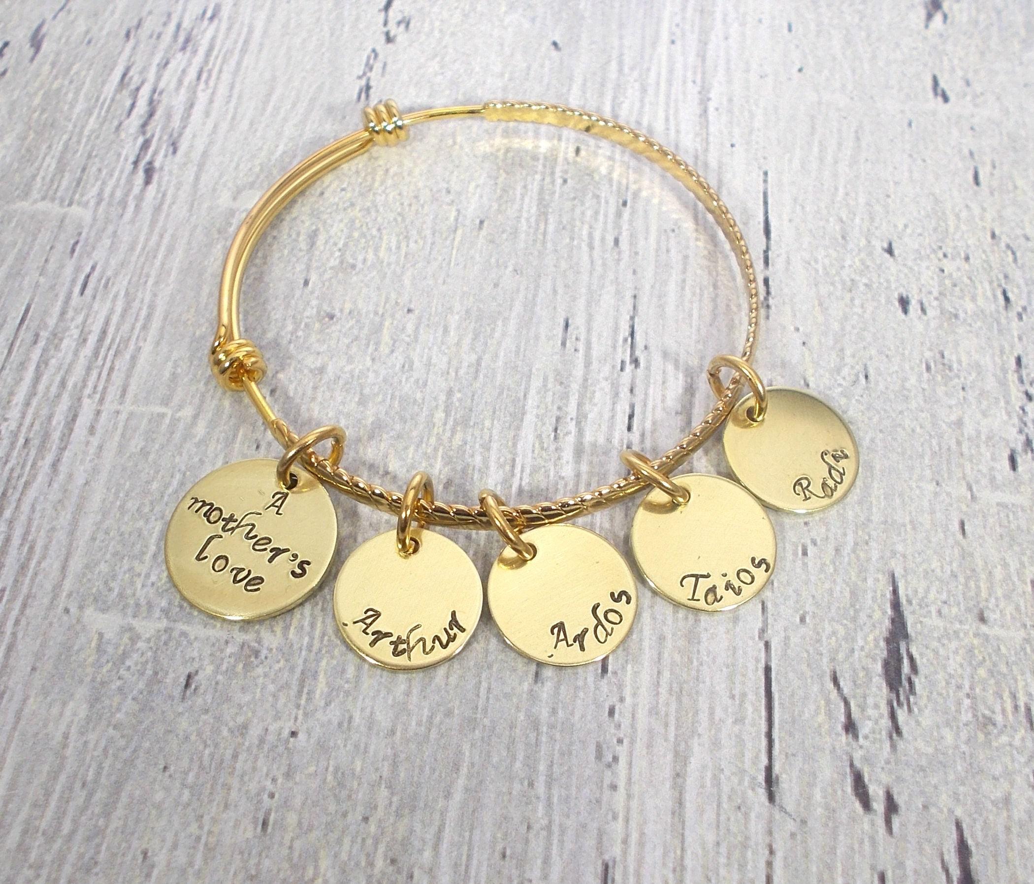 A Mothers Love Bangle Bracelet Gold Mom Bracelet Mom Jewelry