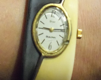 Vintage Dior Bulova Watch Bracelet Ladies Watch Parts Watch CountryRoadBoutique