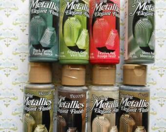 SALDI 6 Bottiglie Dazzling Metallics Colore Acrilico Metallizzato Pittura