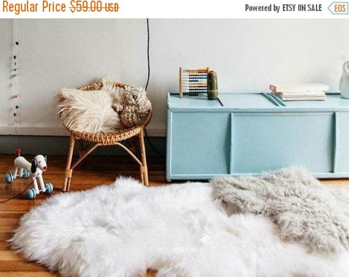 Real, Natural, Genuine Creamy White Sheepskin Rug scandinavian design perfect for a Baby room