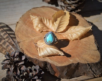 Ring Silver 925 and genuine Arizona Turquoise