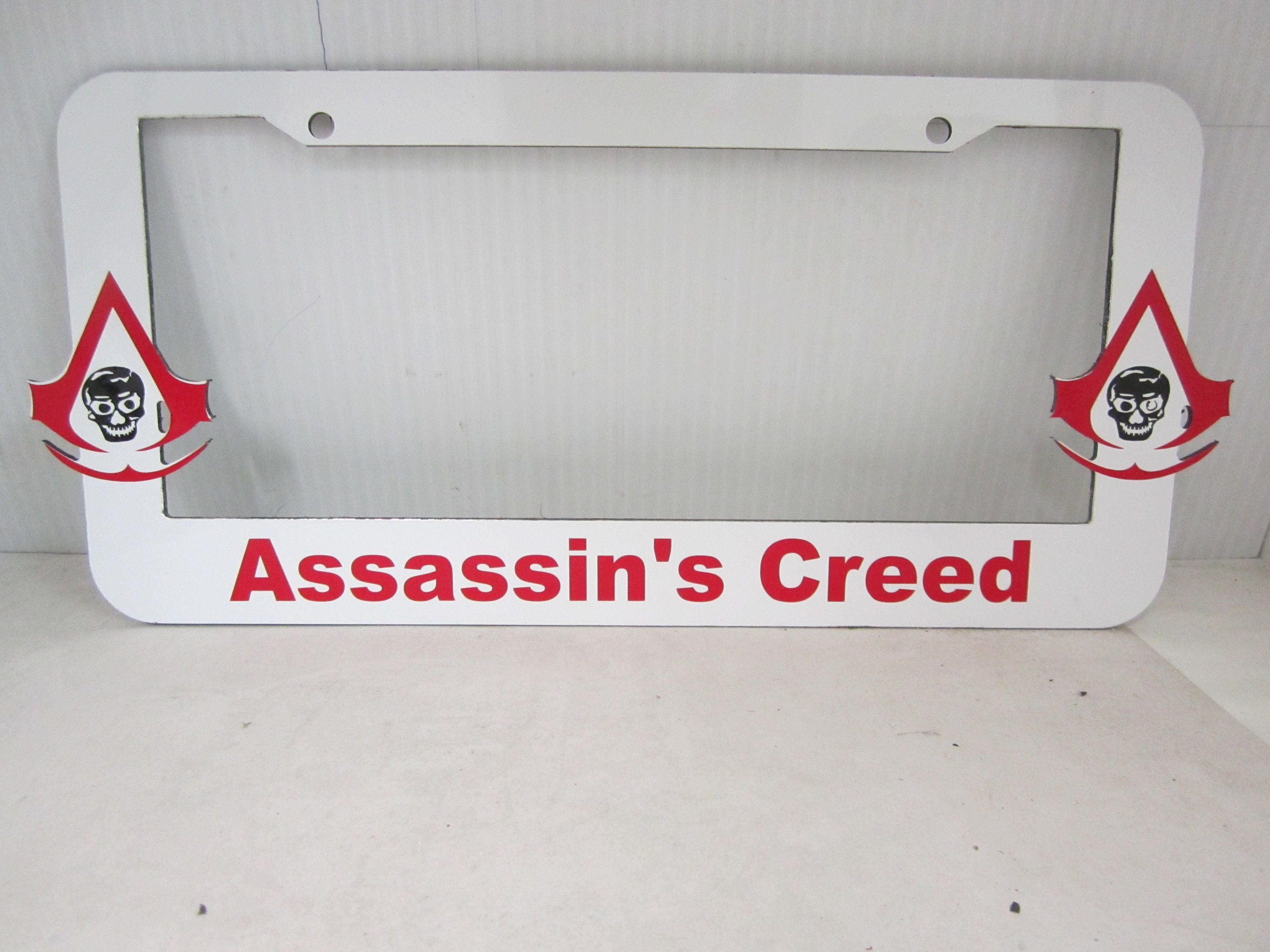 Assassin\'s Creed aluminum license plate frame