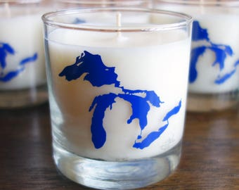 Great Lakes Soy Candle - Freshwater Scent