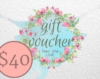 Art Shop Gift Voucher