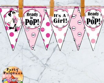 Printable Ready to Pop Baby Shower Banner