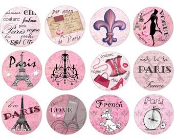 Pink Paris Dresser Drawer Knobs Poodle Eiffel Tower France Cabinet