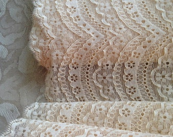 Dentelle de calais, Original French lace,Amazing cream color lace Trim, Lingerie Lace, dentelle au metre