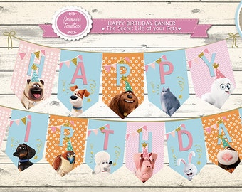 """Banner Happy Birthday - """"The Secret Life of Pets"""" - GIGET . GIRLS"""