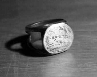 Signet Ring | Sterling Sliver Hex Cavelli Jewellery | Men's Signet Ring Womens | Solid Silver