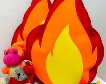 Campfire pillow,flame pillow,campfire pillow,natural pillow,decorative pillow,kids pillow toys