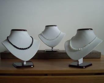 Elegant and discreet shades 3 choice Crystal necklaces are available.