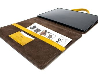 "NEW iPad Pro 12.9"" 2017 code A1670 A1671 PORTFOLIO leather case made by genuine Italian leather as protection choose Body and Accent color"