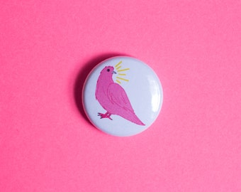 Pink Pigeon One Inch Button