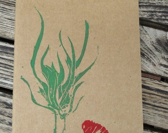 Notebook with seaweed and shellfish, DIN A5
