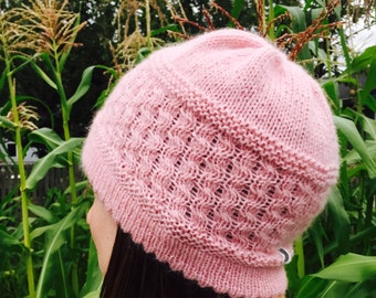 Pink Cloud HAT PATTERN/Womens Hat Pattern Digital Download/Instant PDF Download