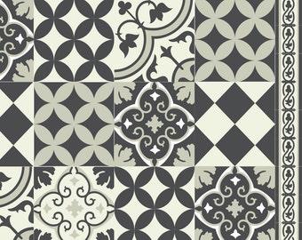 PVC Vinyl Mat Linoleum Rug Free Shipping Mix Tiles Pattern 312