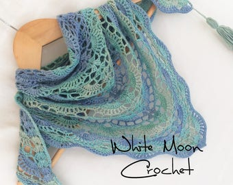Summer shawl Triangle scarf Hand women oversized Scarf crochet Lace shawl gift from daughter Evening Shawl bridesmaid Hand made scarf bamboo