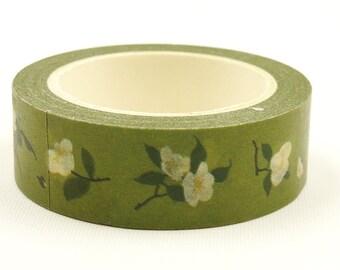 Camellia japonica - Japanese Washi Masking Tape - 11 yard - no discount