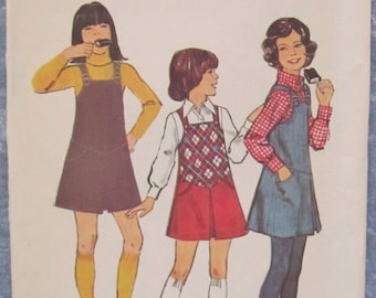 Vintage 1970s Chubbies Jumper Sizes 8 1/2 & 10 1/2 Sewing Pattern Simplicity 6478