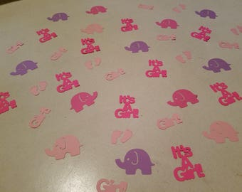 Baby Girl Shower Confetti