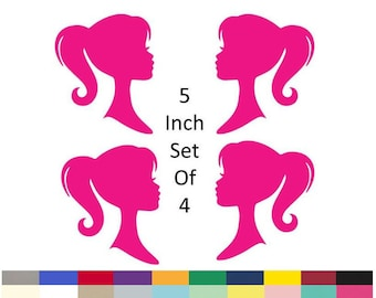 Fashion Doll Girl Silhouette Centerpiece Pick Birthday Party Supply Girl Glam Party Decoration 5 Inch Set Of 4 Die Cuts 20 Colors