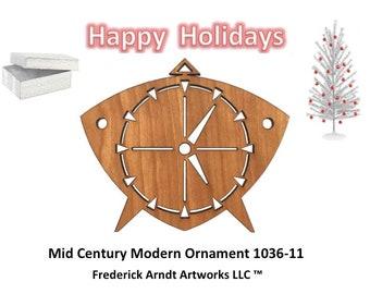1036-11 Mid Century Modern Christmas Ornament