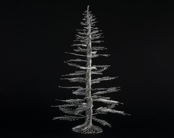 Wire Tree Sculpture of The Homey Pine, Pine Tree, by OnceWire, Made to Order