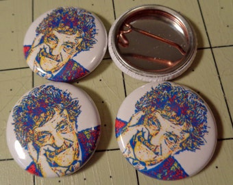 "1"" Button - Kurt Vonnegut"