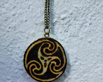 Wood Celtic sign