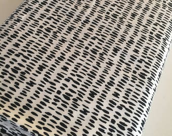 Nest fabric by Art Gallery, Gender Neutral Fabric, Black and White Decor, Nursery, Girl or Boy Baby Quilt, Finger Paint - Choose your cut