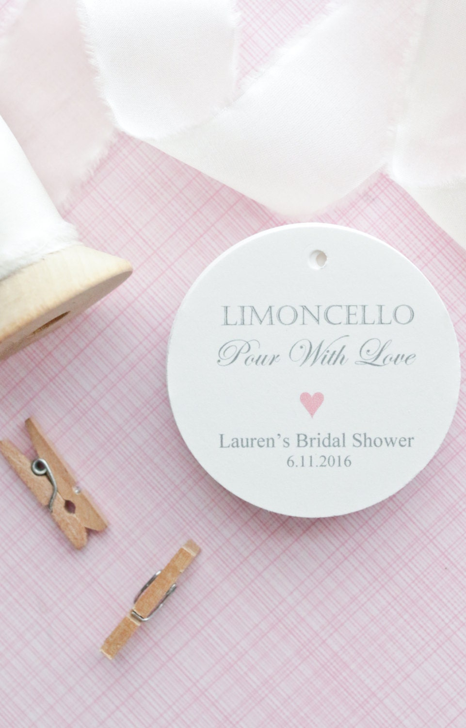 Gift Tags-Wedding Favors-Bridal Shower favors-Limoncello