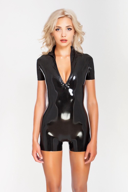 Unzipped catsuit