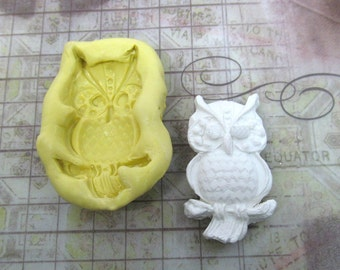 owl mold -  food supplies mold, clay supplies molds, craft supplies , silicon mold -jewlery and bead supplies - # 37s