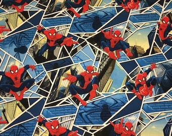Marvel Superhero Spiderman Apparel Quilting 100% Cotton Fabric FULL Yard