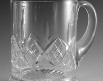 "STUART Crystal - GLENGARRY Cut - Tankard Glass / Glasses - 4"""