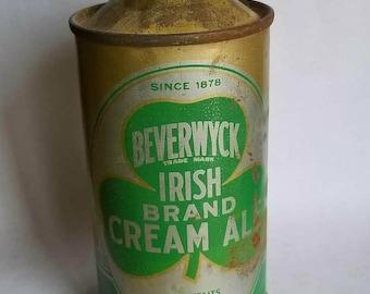 1930's Beverwyck cone top beer can