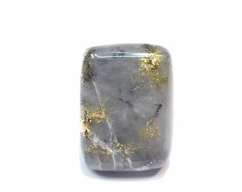Natural Gold in Quartz, Natural nugget, beautiful cabochon, FREE shipping to usa & canada