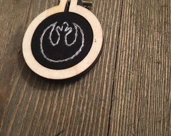 Rebel Alliance Embroidered Pendant