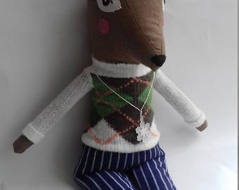 Deer doll, handmade doll, Christmas doll, stuffed animal, fawn doll, reindeer doll, great Christmas present
