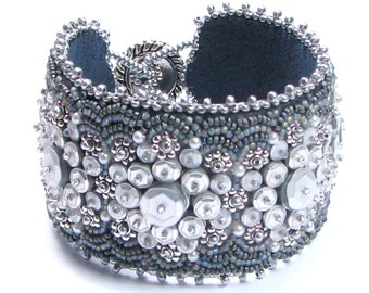 Chromeblossoms bead embroidery bracelet kit by Ann Benson