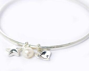 Star bangle - Bridesmaid Jewellery - Bridesmaid gift - Bridesmaid bangle - Bridesmaid bracelet - Best Friend Gift