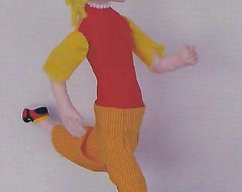 KK803E – Skate Boarder  - Cloth Doll Making Sewing Pattern, PDF Download